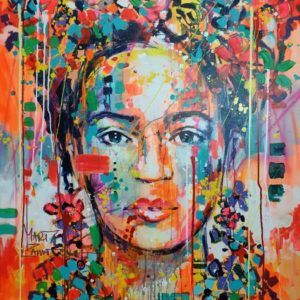 Marta-Zawadzka-canvas-frida-kahlo-sell-gallery-woman-face-poland-artist-buy-shop-colorful-signed-big-street-art-artist