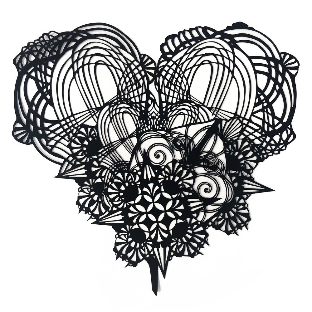 SWOON Heart LaserCut White sq