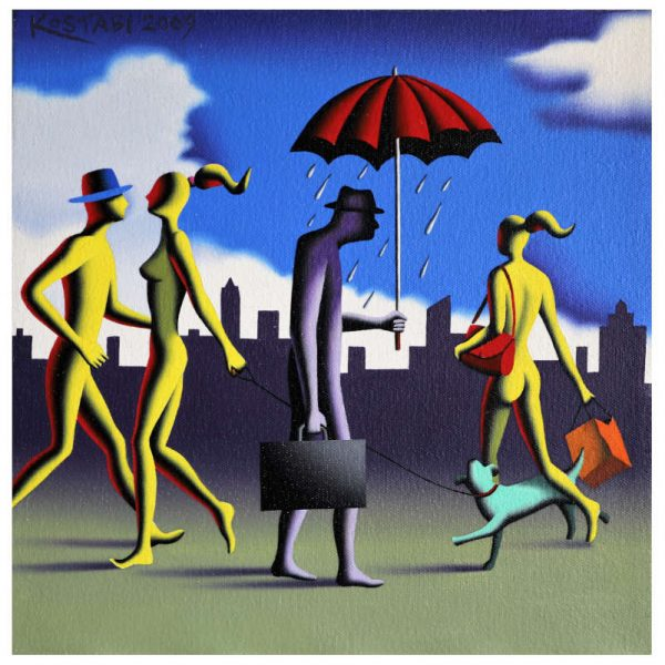 mark kostabi canvas for sale