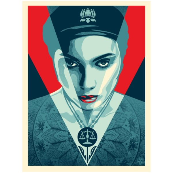 obey justice woman red