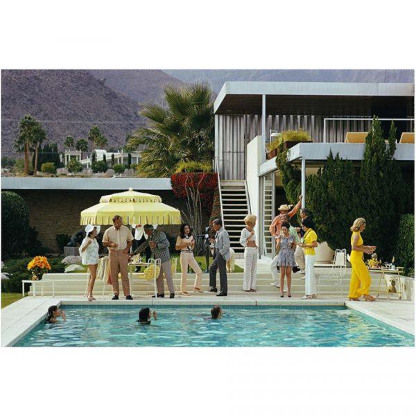 slim aarons poolside party